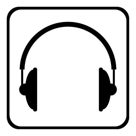 Headphones icon on white background. Vector illustration.