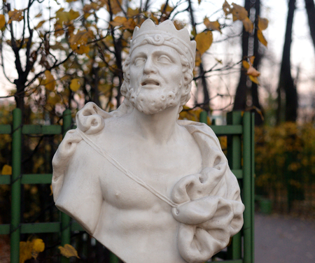 Statue of King Midas in Summer Garden at evening, St.Petersburg, Russia.