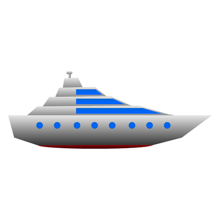 Yacht icon on white background. Vector illustration. Ilustração