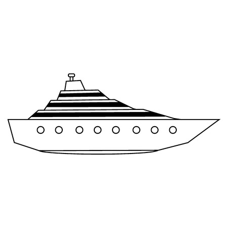 Yacht icon on white background. Vector illustration. 矢量图像