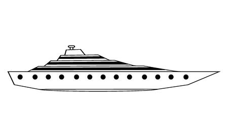 Yacht icon on white background. Vector illustration. Ilustracja