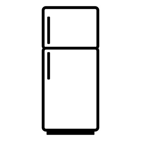 Refrigerator icon on white background. Kitchen equipment. Vector illustration.