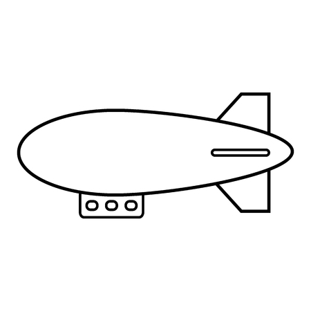 Airship icon on white background. Vector illustration. Stok Fotoğraf - 127208026