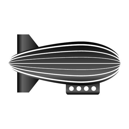 Airship icon on white background. Vector illustration. Stok Fotoğraf - 127208029