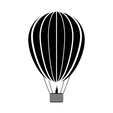 Aerostat icon on white background. Vector illustration.