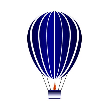 Aerostat icon on white background. Vector illustration.