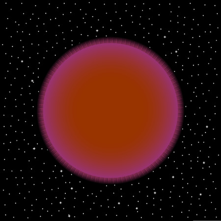 Brown star on cosmic background. Vector illustration.