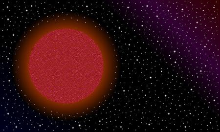 Brown star on black cosmic background. Illustration. Stockfoto