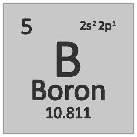 Periodic table element boron icon on white background. Vector illustration. Banco de Imagens - 125490811