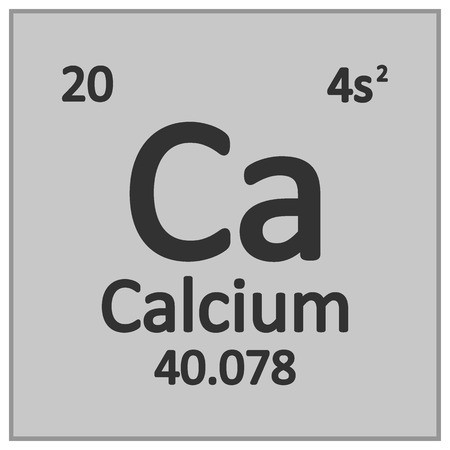 Periodic table element calcium icon on white background. Vector illustration. Banco de Imagens - 125490815