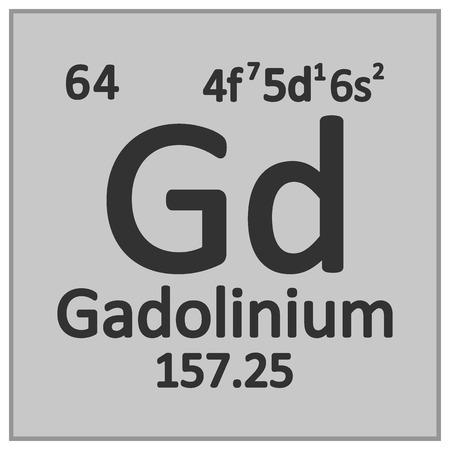 Periodic table element gadolinium icon on white background. Vector illustration. Banco de Imagens - 125490830