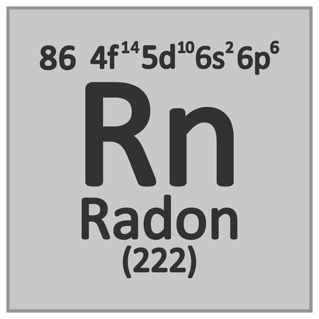 Periodic table element radon icon on white background. Vector illustration. Banco de Imagens - 124254208