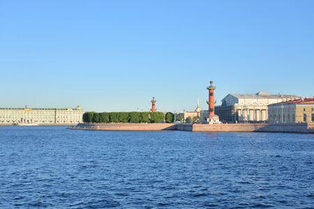 View of the Neva river and Arrow of Vasilievsky island n St. Petersburg, Russia. Stock fotó