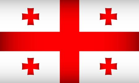 Flag of Georgia. Vector illustration. Patriotic background.