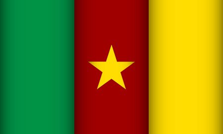 Flag of Cameroon. Vector illustration. Patriotic background.
