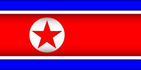 Flag of North Korea. Vector illustration. Patriotic background.