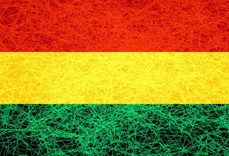 Flag of Bolivia. Illustration in grunge style.