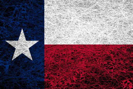 Flag of Texas. Illustration in grunge style.