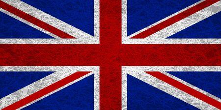 Flag of the United Kingdom. Illustration in grunge style. Stockfoto