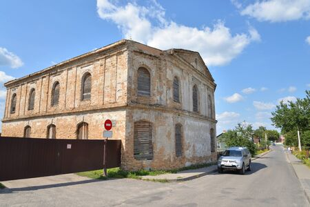 The ruins of synagogue in Stolin, Belarus.