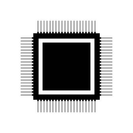 Processor icon on white background.