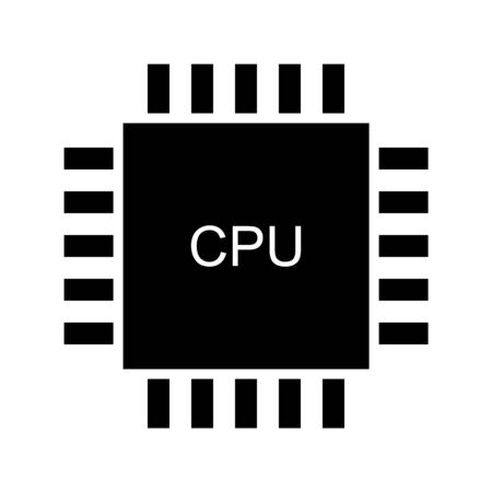 Processor icon on white background.