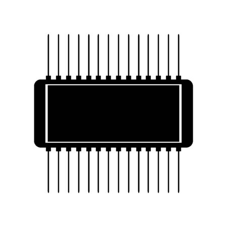Microchip icon on white background. Vector illustration. 向量圖像