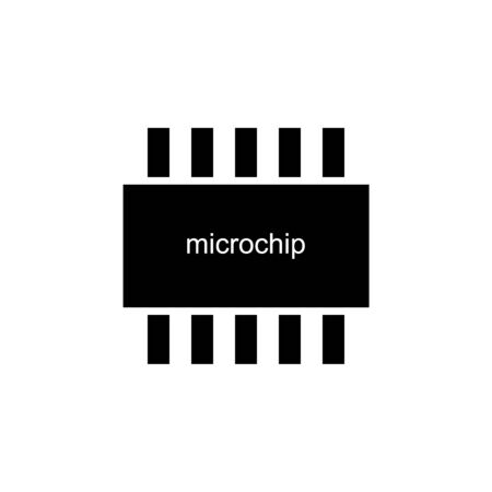 Microchip icon on white background. Vector illustration.