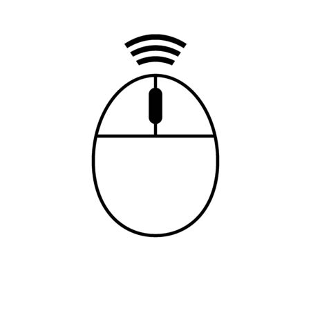 Computer wireless mouse icon on white background. Vector illustration.
