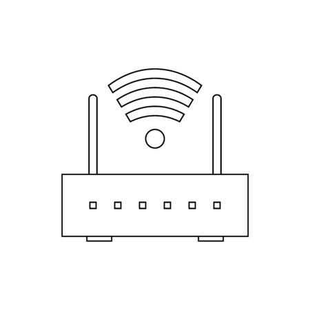 Router icon on white background. Vector illustration. Иллюстрация