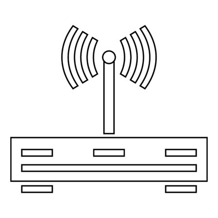 Router icon on white background. Vector illustration. Illustration