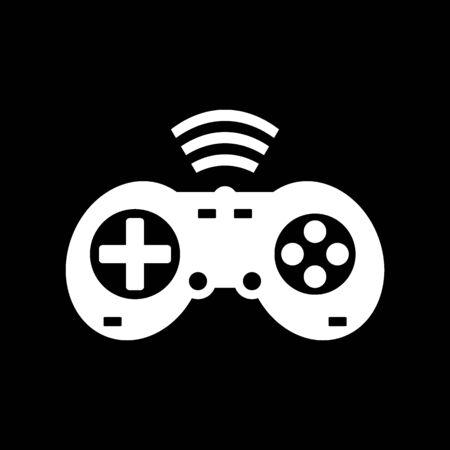 Game console on black background. Vector illustration. Illustration