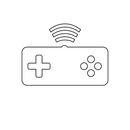 Game console on white background. Vector illustration. Illustration