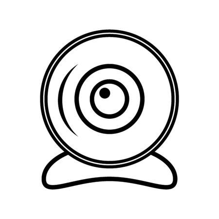 Webcam icon on white background. Vector illustration.