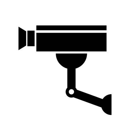 Surveillance camera icon on white background.