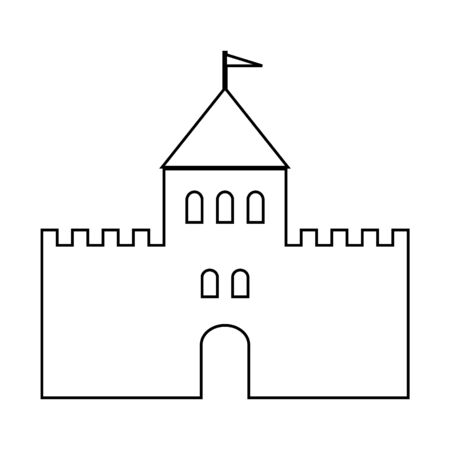 Castle icon on white background.