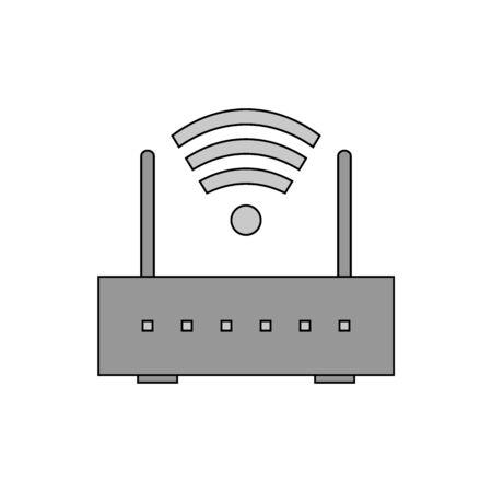 Router icon on white background. Vector illustration. 矢量图像