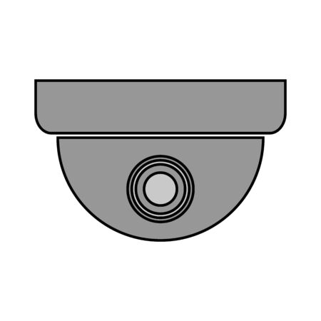 Surveillance camera icon on white background. Vector illustration. 版權商用圖片 - 135359032