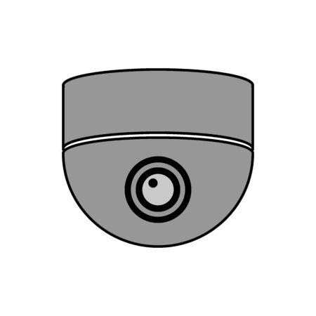 Surveillance camera icon on white background. Vector illustration.