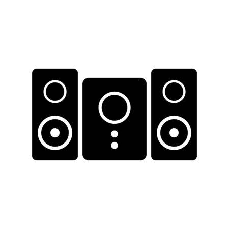 Stereo-Lautsprechersystem-Symbol auf weißem Hintergrund. Vektor-Illustration.