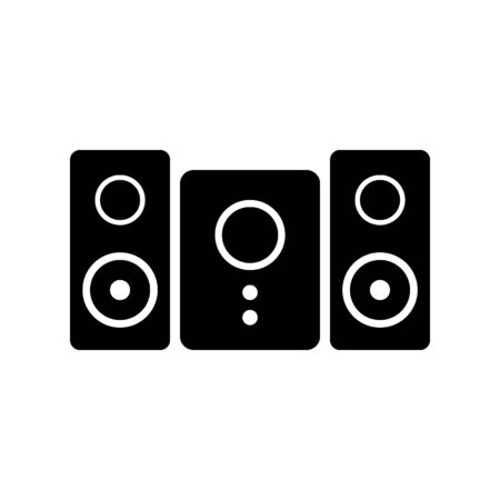 Stereo speaker system icon on white background. Vector illustration. Banque d'images - 135464825