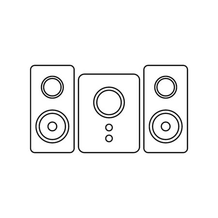 Stereo speaker system icon on white background. Vector illustration. Banque d'images - 135464891