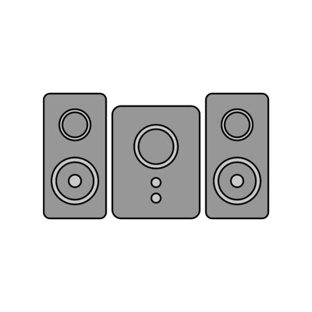 Stereo speaker system icon on white background. Vector illustration. Banque d'images - 135464916