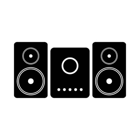 Stereo speaker system icon on white background. Vector illustration. Banque d'images - 135464798