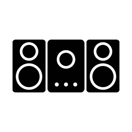 Stereo speaker system icon on white background. Vector illustration. Banque d'images - 135488554