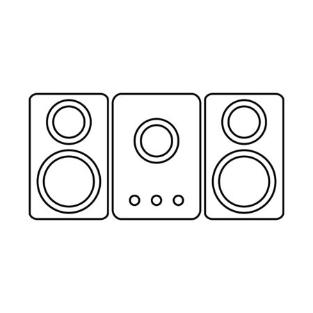 Stereo speaker system icon on white background. Vector illustration. Banque d'images - 135489081