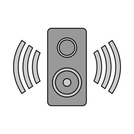 Speaker icon on black background. Vector illustration. Banque d'images - 135881161