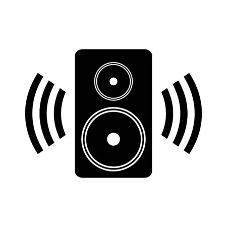 Speaker icon on white background. Vector illustration. Banque d'images - 135521696