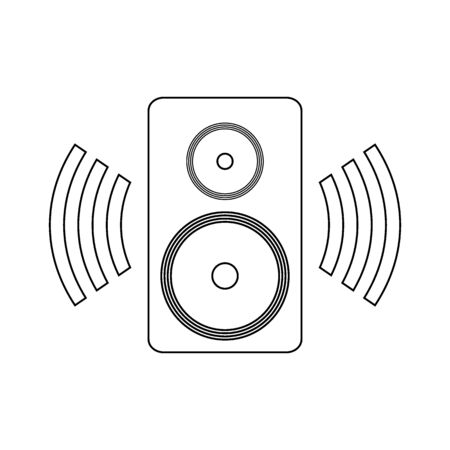 Speaker icon on white background. Vector illustration. Banque d'images - 135521262