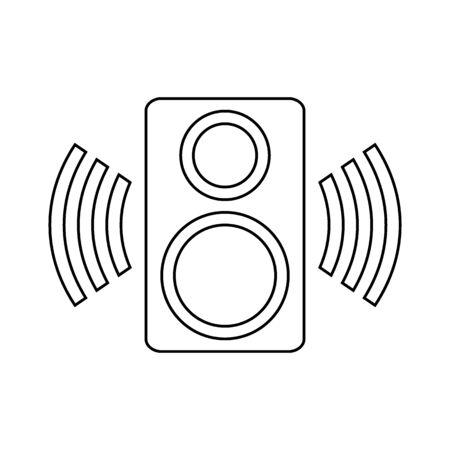 Speaker icon on white background. Vector illustration. Banque d'images - 135521692